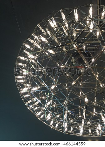 crystal pendant light.