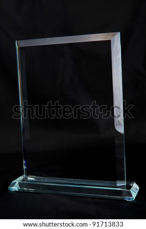 Crystal Plaque award - stock photo