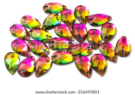 Crystal Rhinestones of  different cuts and colors
