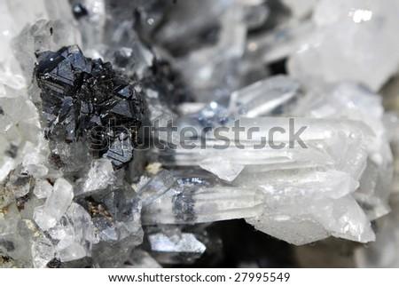 Crystal rock closeup - stock photo