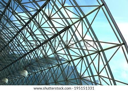 Crystal roof-Metro station-San Sebastian - stock photo