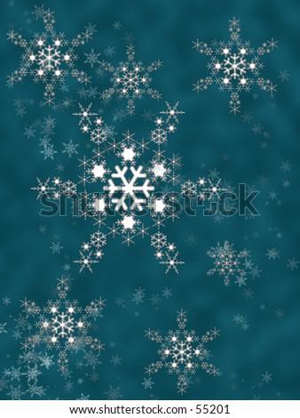 crystal snowflake - stock photo