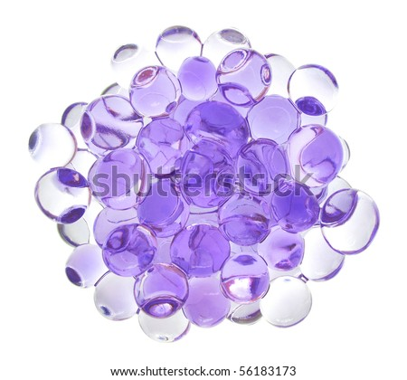 Crystal soil (water absorbent polymer that can hold plants) - stock photo