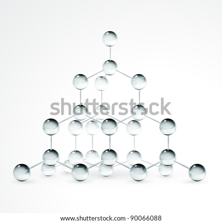 Crystal structure, bitmap copy - stock photo