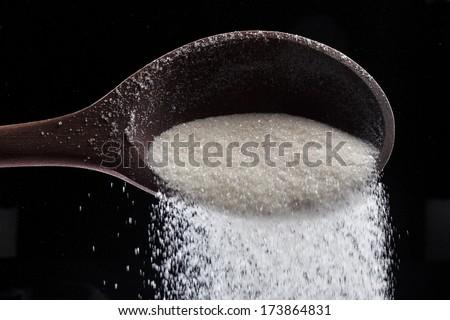 crystal sugar - stock photo