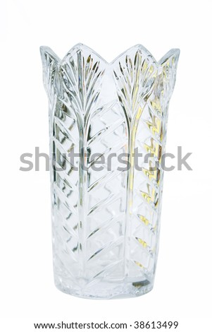 Crystal vase - stock photo