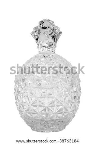 crystal vase in the form of pineapple - stock photo