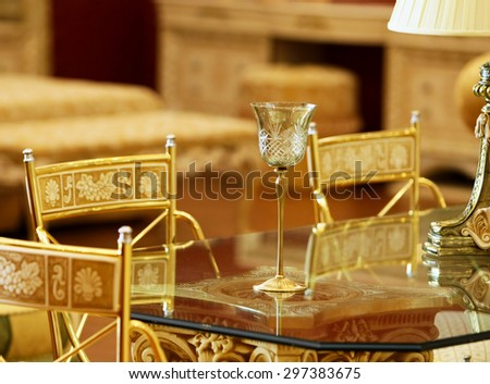 Crystal wineglass - stock photo