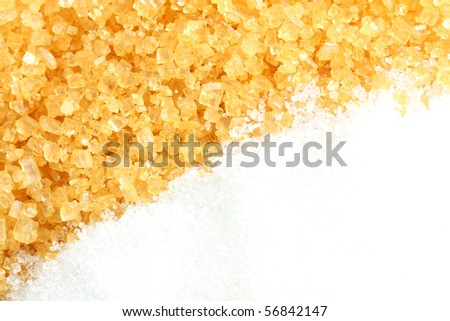 Crystalline sugar and granulated sugar for foods and drinks.