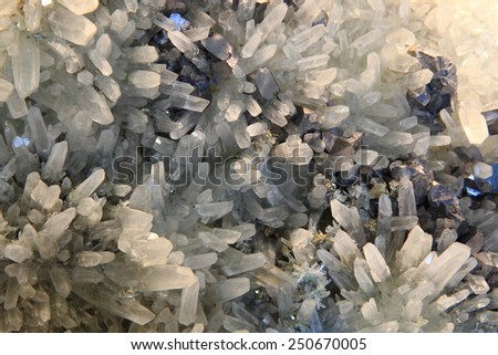 crystals in the lead - stock photo