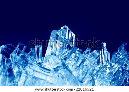 Crystals macro - stock photo