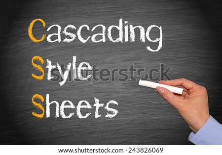 CSS - Cascading Style Sheets - stock photo