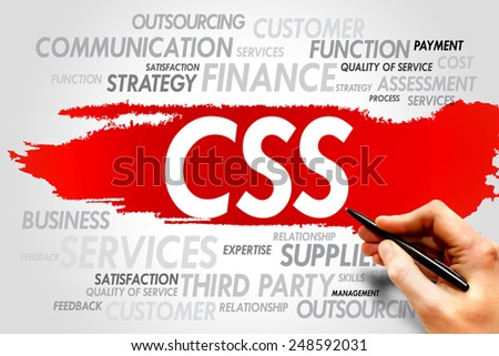 CSS word cloud, business concept - stock photo