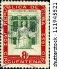 CUBA - CIRCA 1952: A stamp printed in Cuba shows University of Havana, circa 1952 - stock photo