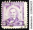 CUBA - CIRCA 1954: a stamp printed in the Cuba shows Jose de la Luz Caballero, Scholar, Philosopher, circa 1954 - stock photo
