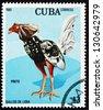 CUBA - CIRCA 1981: a stamp printed in the Cuba shows Pinto, Fighting Cock, circa 1981 - stock photo