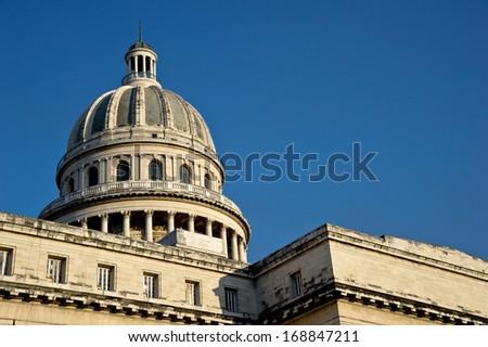 CUBA - DECEMBER 30: The National Capitol Building of Cuba in Havana, Cuba. - stock photo