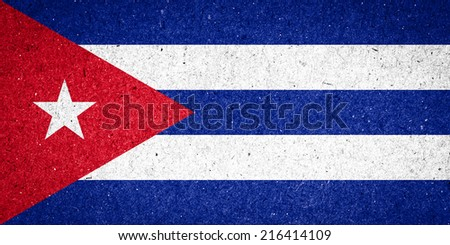 Cuba flag on paper background - stock photo