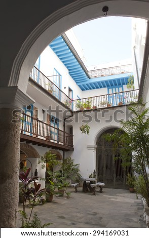 Cuba. Havana. Courtyards of the old city - stock photo