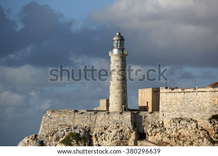 Cuba, Havana, Moro Castle - stock photo