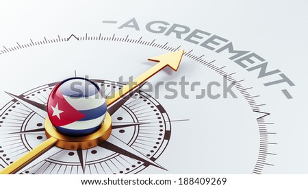 Cuba High Resolution Agreement Concept - stock photo