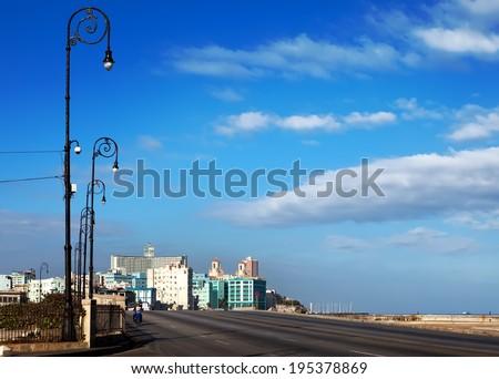 Cuba.  Malecon Street of Old Havana. - stock photo