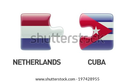 Cuba Netherlands High Resolution Puzzle Concept