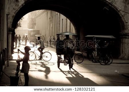 Cuba, Old Havana street - stock photo