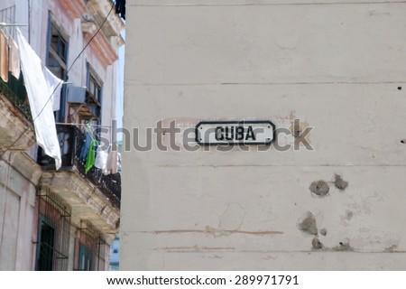 Cuba Street - Old Havana - Cuba - stock photo