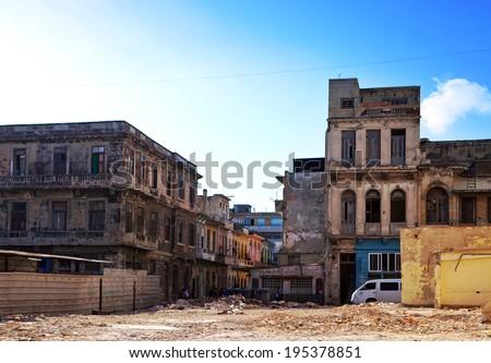 Cuba. Streets of Old Havana. - stock photo