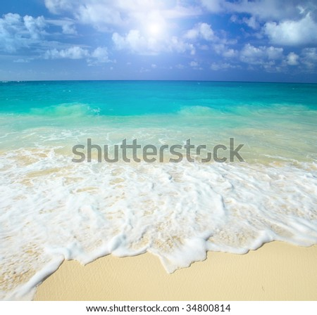 cuba the beach - stock photo