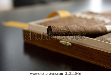 Cuban Cigar - stock photo
