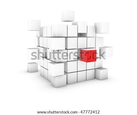 cube - stock photo