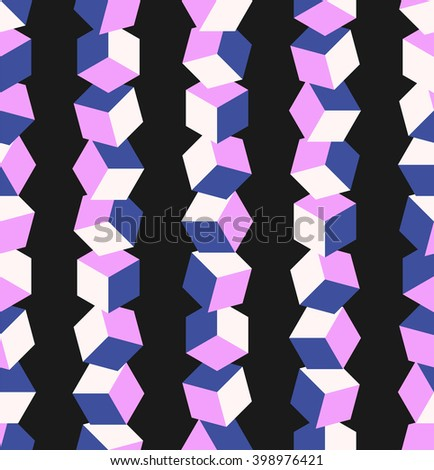 Cube Background. Seamless Pattern. - stock photo