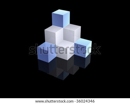 cube blocks - stock photo