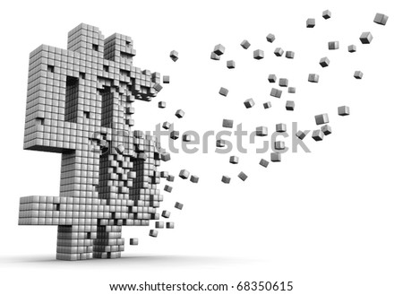 Cube box forming a dollar sign symbol financial and economic concept - stock photo