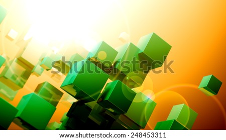 cube concept.Science and technology background - stock photo