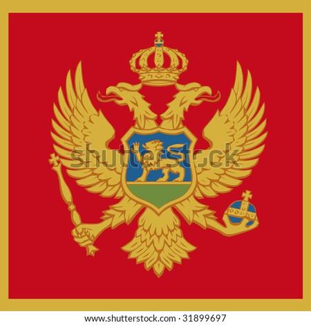 cube flag of montenegro - stock photo