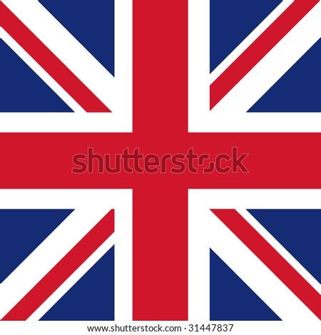 cube flag of united kingdom / great britain - stock photo