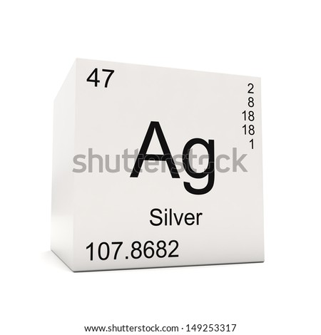 Cube silver element periodic table isolated stock illustration cube of silver element of the periodic table isolated on white background urtaz Image collections