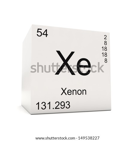 Cube xenon element periodic table isolated stock illustration cube of xenon element of the periodic table isolated on white background urtaz Images