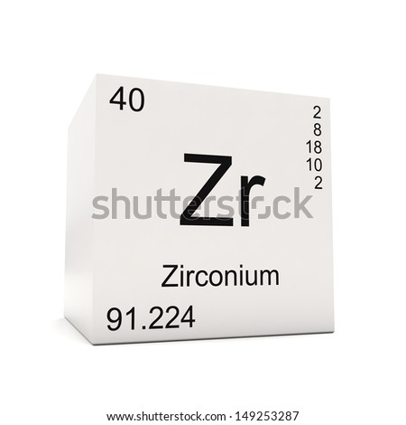 Cube zirconium element periodic table isolated stock illustration cube of zirconium element of the periodic table isolated on white background urtaz Image collections