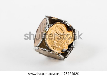 cube on the white background - stock photo