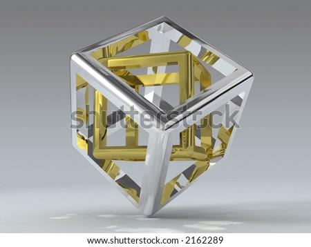 cube paradox - stock photo