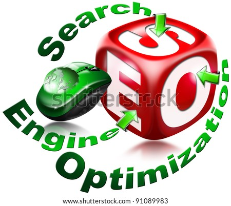 Cube Search engine optimization - stock photo