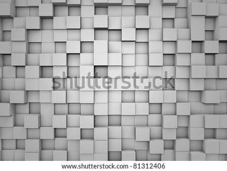 Cube wall background - stock photo