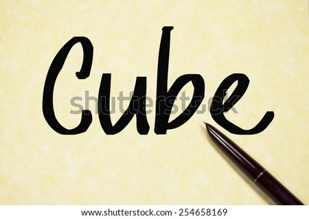 cube word write on paper  - stock photo