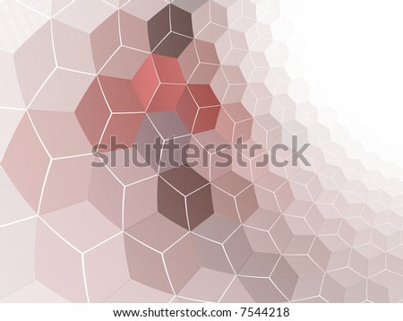 Cubed Wall - stock photo