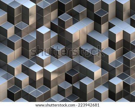 Cubes abstract background with a lot of concepts and metaphors: business, team, technologies, industry, digital, computer management, crowd, originality, information, data, etc. - stock photo