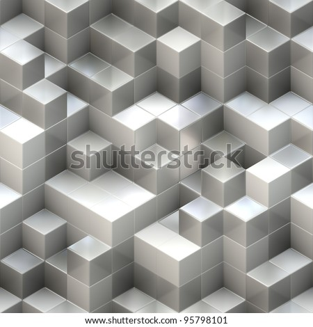 cubes background - stock photo